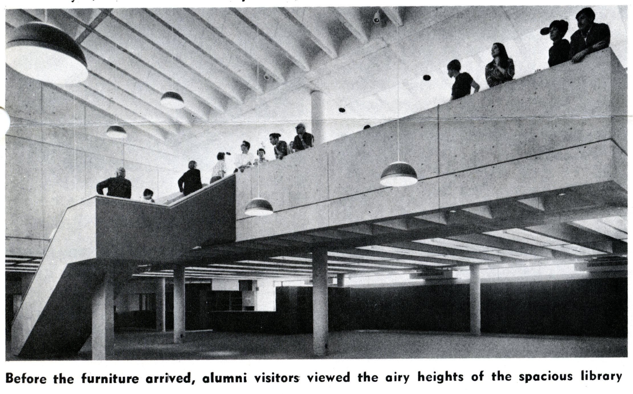 Alumni on the Meyer mezzanine