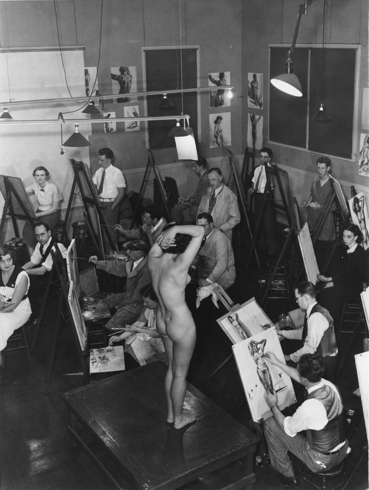 Maurice Logan life drawing class, 1936   CCA Vault