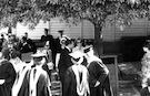 Duke Ellington, Honorary Doctorate recipient, with graduating students