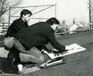 Faculty Ron Dahl and student John Lander