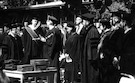 Buckminster Fuller and Duke Ellington receiving their Honorary Doctorates